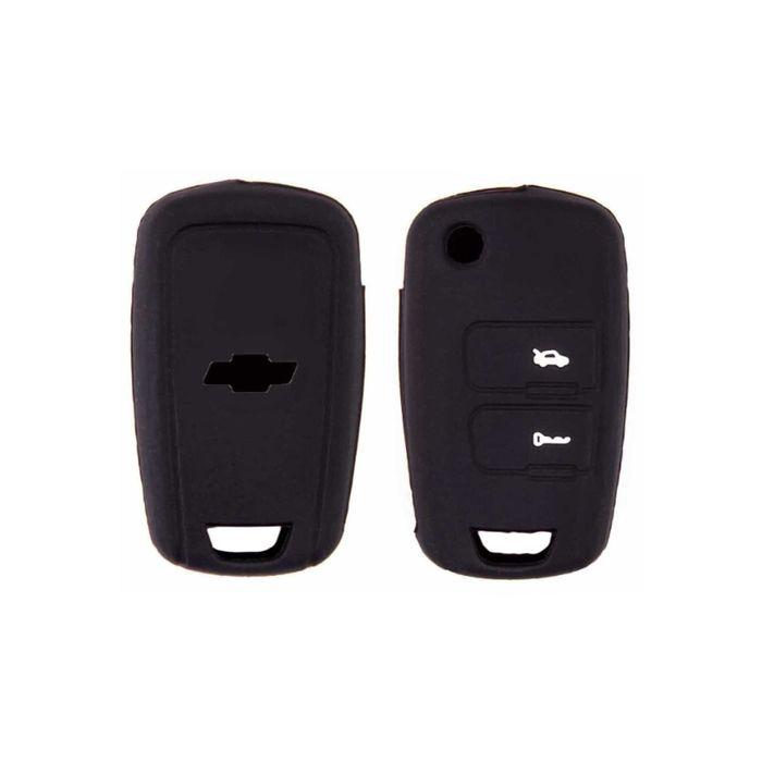 Чехол на ключ автомобильный SKYWAY, силиконовый CHEVROLET, 2 кнопки