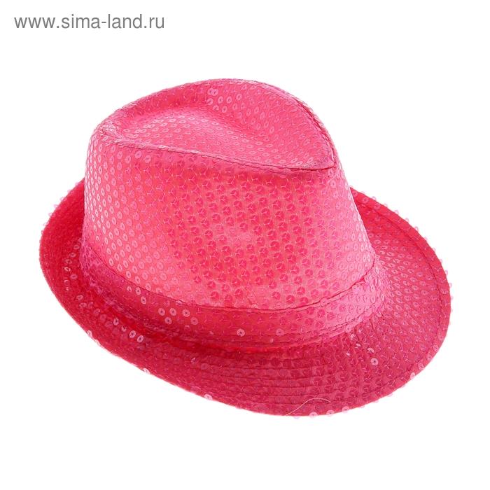 Карнавал шляпа Дискотека с паетками коралловая