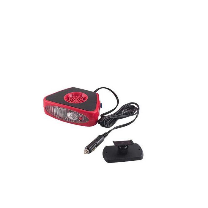 Тепловентилятор SKYWAY, в прикуриватель с фонарем, 12 В, черный-красный