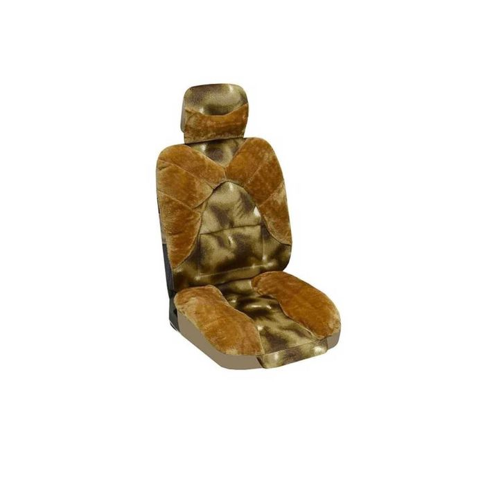Чехлы сиденья меховые искусственные 2 предм. SKYWAY Arctic коричневый