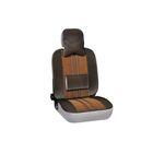 Чехлы сиденья меховые искусственные 2 предм. SKYWAY Arctic коричневый с поддержкой спины