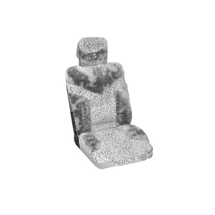 Чехлы сиденья меховые искусственные 2 предм. SKYWAY Arctic серый