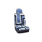 Чехлы сиденья меховые искусственные 2 предм. SKYWAY Arctic синий, черный, белый
