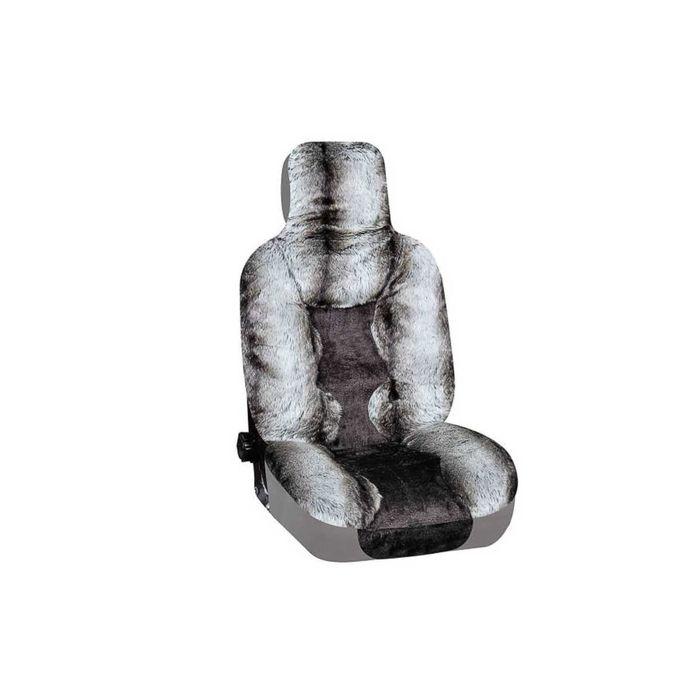 Чехлы сиденья меховые искусственные 5 предм. SKYWAY Arctic коричневый