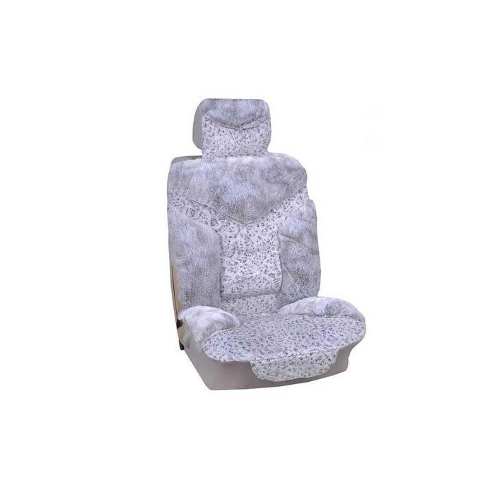 Чехлы сиденья меховые искусственные 5 предм. SKYWAY Arctic серый