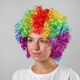 Карнавальный парик «Объём», цветные кудри, 120 г