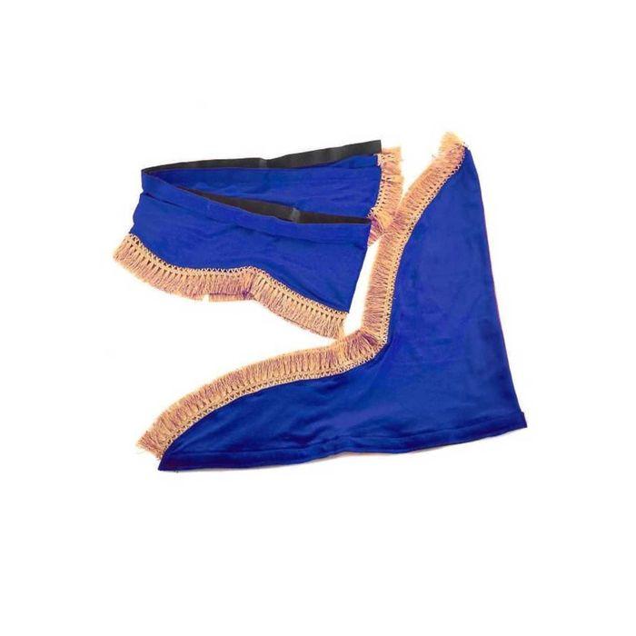 Ламбрекен лобового стекла со шторками SKYWAY, 180см/60x60см, синий