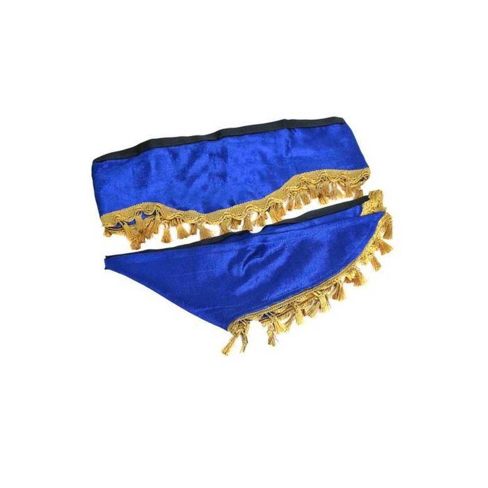 Ламбрекен лобового стекла со шторками SKYWAY, 210см/60x60см, синий