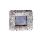 Накидка сиденья меховая искусственная 2 предм. без спинки SKYWAY Arctic, серый