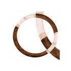 Оплетка SKYWAY, искусственный мех, размер L, коричневая, с 2 бежевыми вставками, ECO