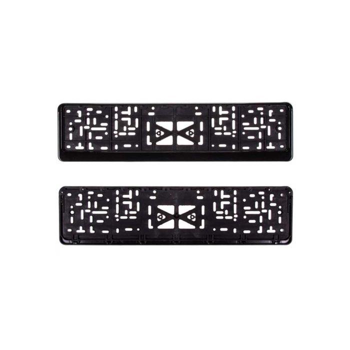 Рамка под номер пластмассовая с защелкой SKYWAY, (без надписи) полированная черная