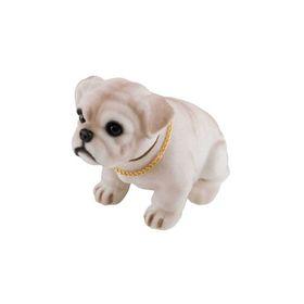 """Собака большая в машину с освежителем Skyway """"Лимон"""", Бульдог, 13,5x7,5x11,5 см"""