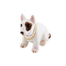 """Собака большая в машину с освежителем SKYWAY """"Лимон"""", Бультерьер, 13,5x7x13 см"""