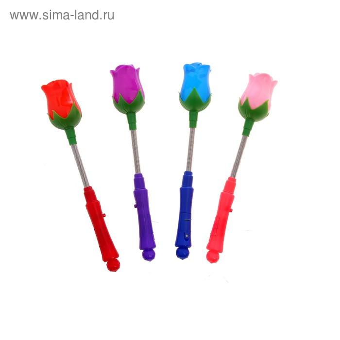 "Световая палочка ""Роза"" на пружине, цвета МИКС"
