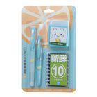 Ручки перьевые 2шт+10картриджей синих+коробочка для картриджей на блистере МИКС