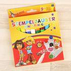 Фломастеры Stamp Magic Pens 9+1: 9 двухцветных фломастеров-штампов + 1 белый