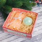 """Подарочный набор """"С пожеланиями счастья и любви!"""" соль для ванн 150 г, бурлящий шар, аромат яблоко"""