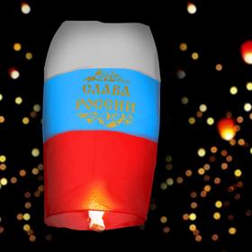 "Sky lantern ""Glory to Russia"", tricolor"