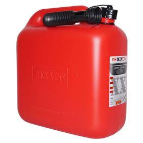 Канистра REXXON для топлива, пластиковая, 10 л, с гибким шлангом и крышкой Ош