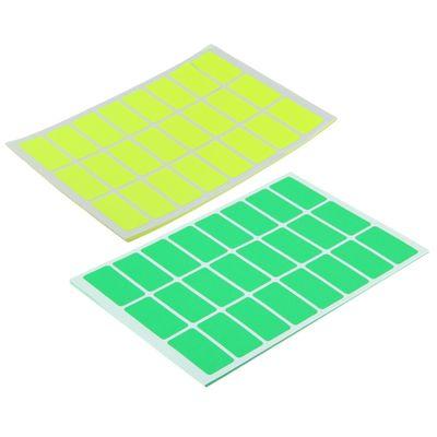 Набор 10 листов: ценники самоклеящиеся, 32 х 16 мм, 24 штуки, на 1 листе, флуоресцентные, МИКС