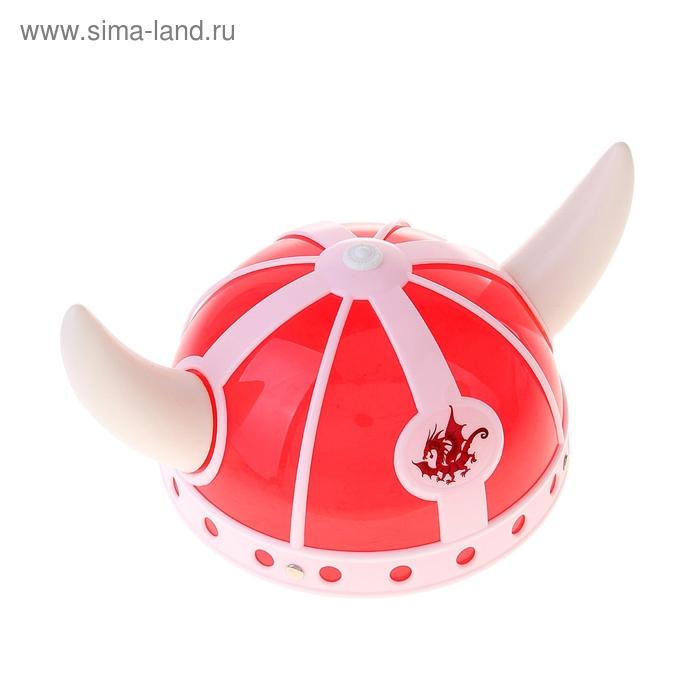 """Шлем с рогами """"Дракон"""", цвет красно-белый"""