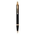 Ручка шариковая Parker IM Core Black GT M, корпус чёрный матовый/ золотой, синие чернила (1931666)