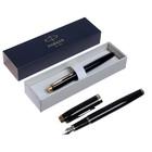 Ручка перьевая Parker IM Core Black GT, корпус чёрный глянцевый/ золотой, чёрные чернила, перо F (тонкое) (1931645)
