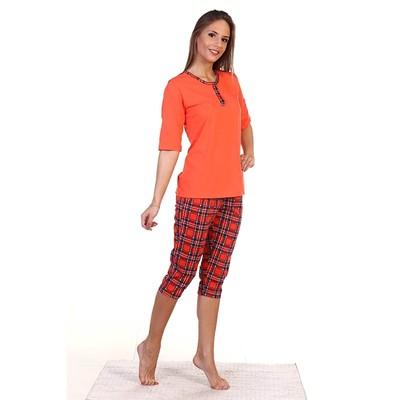 Пижама женская (футболка, бриджи) ПК227 цвет МИКС, р-р 46