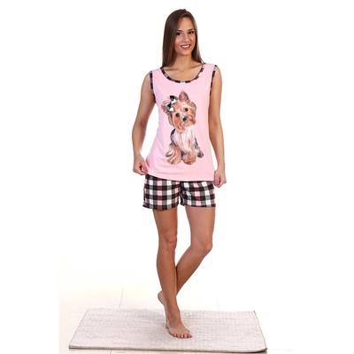 Пижама женская (майка, шорты) ПК222 цвет МИКС, р-р 52
