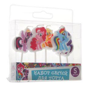 Набор свечей для торта 'My Little Pony' на палочках, 5штуки Ош