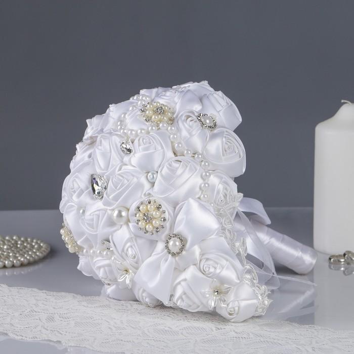 Букет-дублер для невесты, белый, 26х26х22 см