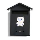Ящик почтовый с замком, вертикальный, «Почта», серый - фото 7394428