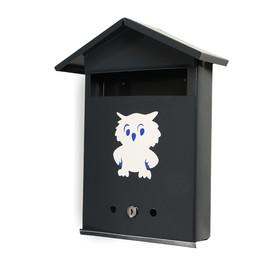 Ящик почтовый с замком, вертикальный, «Почта», серый - фото 7394429
