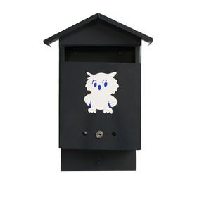 Ящик почтовый с замком, вертикальный, «Почта», серый - фото 7394430