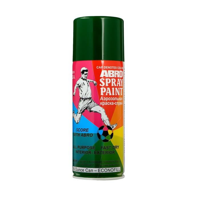Краска-спрей ABRO стандартная, 400 мл, 48 тёмно-зелёная 48