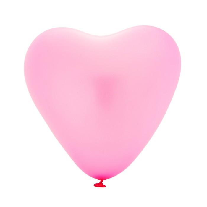 """Шар латексный Сердце Розовый 100 шт. 5"""""""