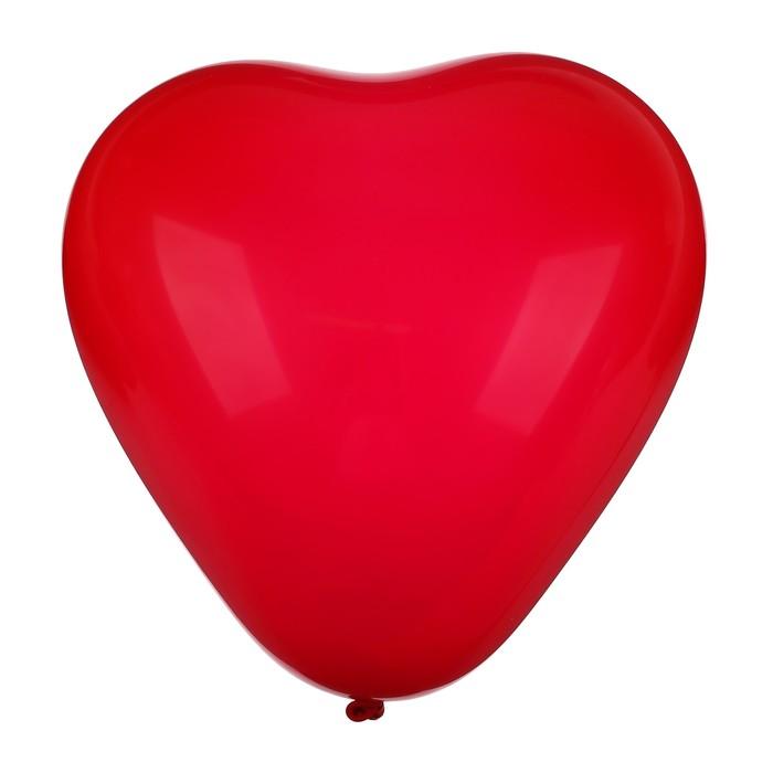 """Шар латексный Сердце Красный 25 шт. 12"""""""