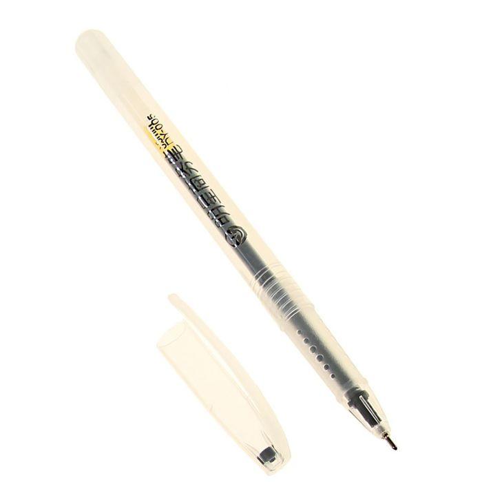 Ручка гелевая 0,5 мм черная, тонированный корпус