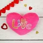 """Soft toy magnet """"Heart"""" with the inscription Love, MIX color"""