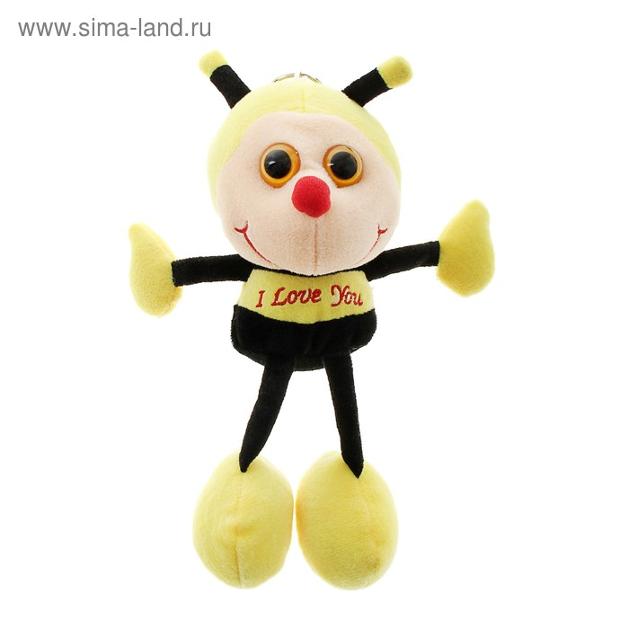 "Мягкая игрушка ""Пчелка"" на груди вышивка"