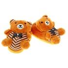 """Тапочки-зверушки """"Мишка букле"""", 31 размер, цвет коричневый"""