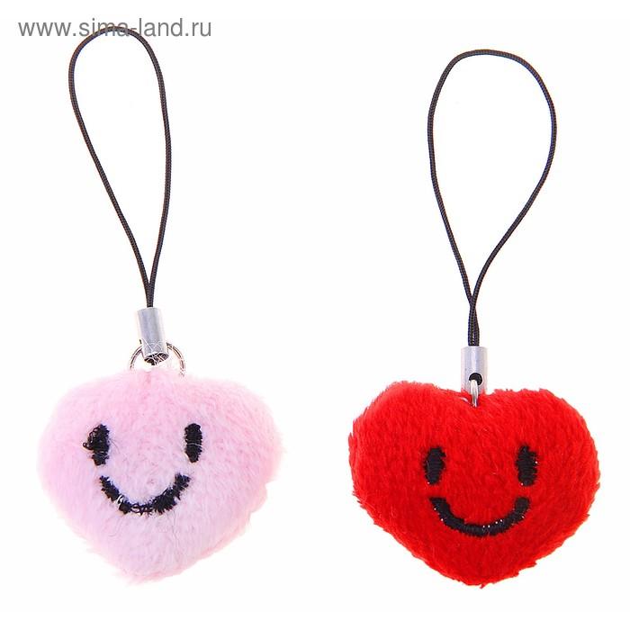 """Мягкая игрушка-подвеска """"Сердечко с мордочкой"""", цвета МИКС"""