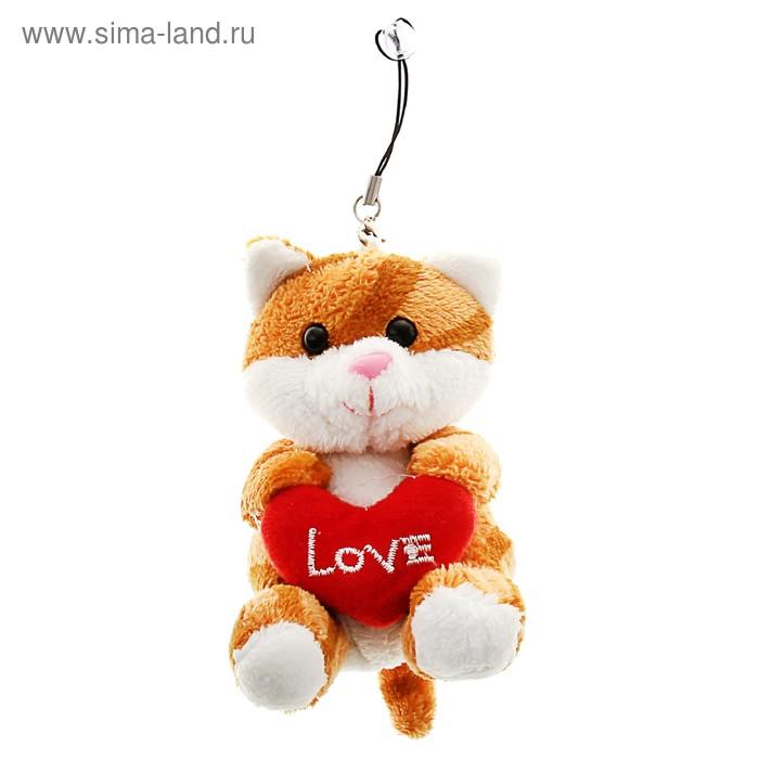 """Мягкая игрушка-присоска """"Кот с сердцем"""""""