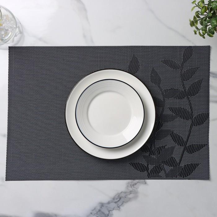 """Салфетка кухонная """"Росток"""" 45х30 см, цвет черный"""