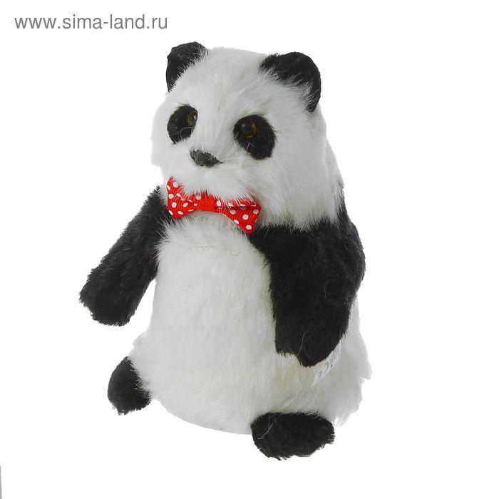 """Мягкая интерактивная игрушка-повторюшка """"Панда"""", ходит, цвет черно-белый"""