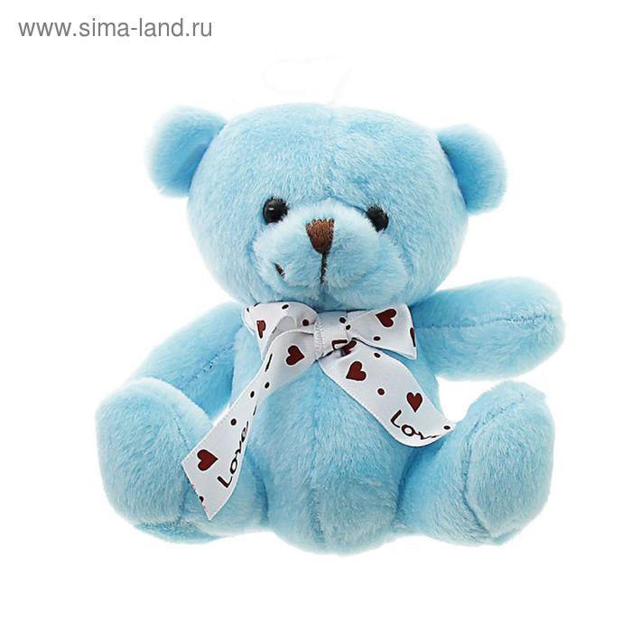 "Мягкая игрушка-присоска ""Мишка"", бантик с сердечками, цвета МИКС"