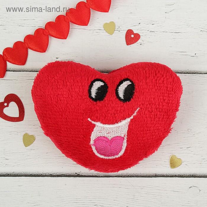 "Мягкая игрушка-магнит ""Сердце рожица с сердечком"""