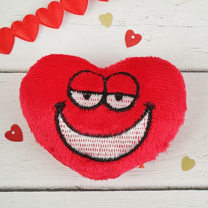 "Мягкая игрушка-магнит ""Сердце рожица с улыбкой"""