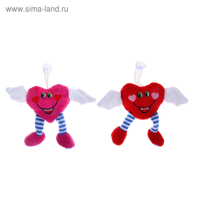 """Мягкая игрушка-присоска """"Сердечко ангел"""", цвета МИКС"""