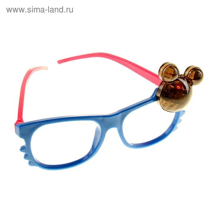 Карнавал очки свет мордашка цвет микс